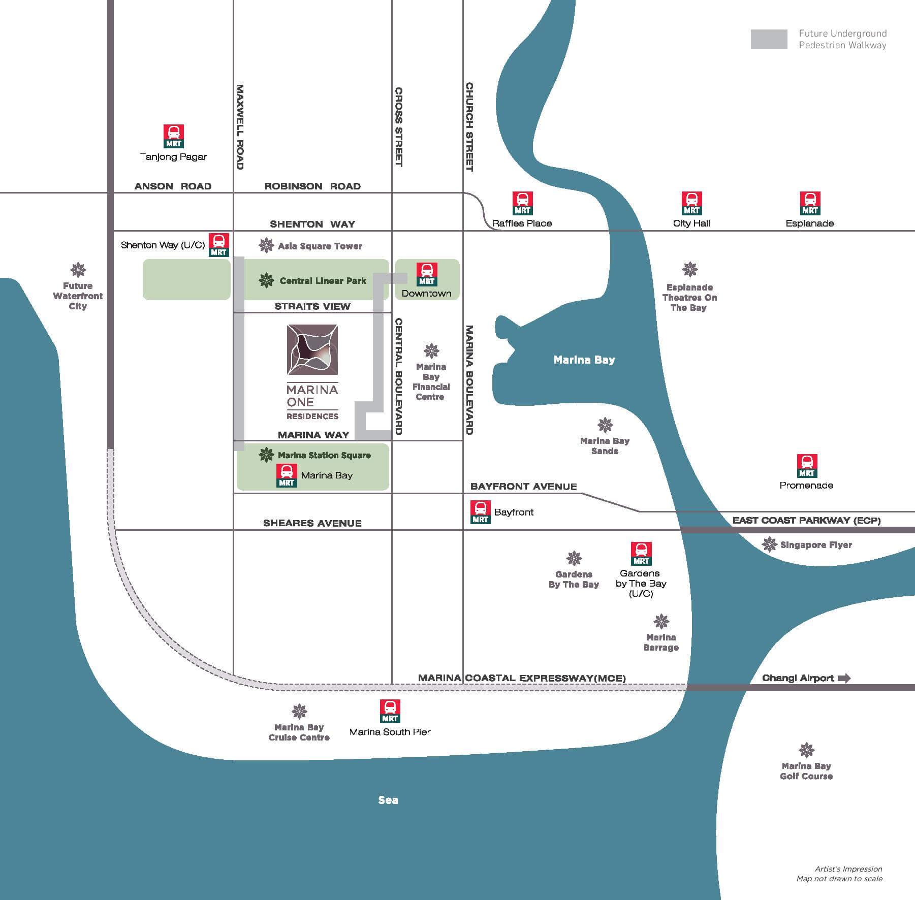 Marina One Residences Location Map